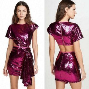 NEW Alice McCall Electric Orchid Mini Knot Dress